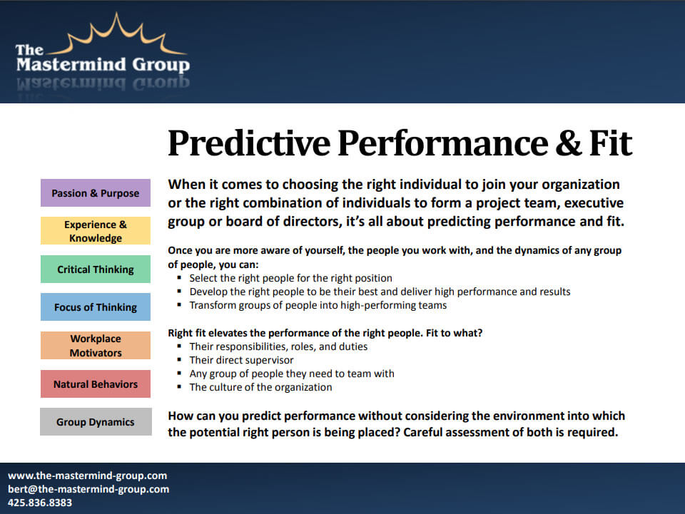 Predictive Performance and Fit
