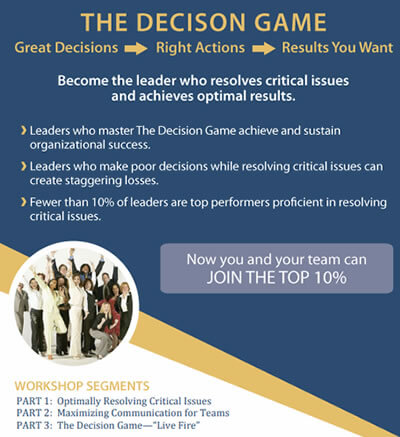 Decision Game Event Flyer