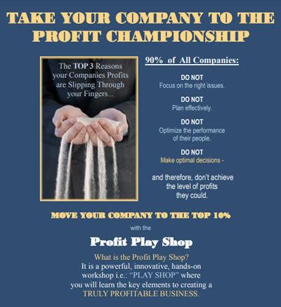 Profit Play Shop Event Flyer